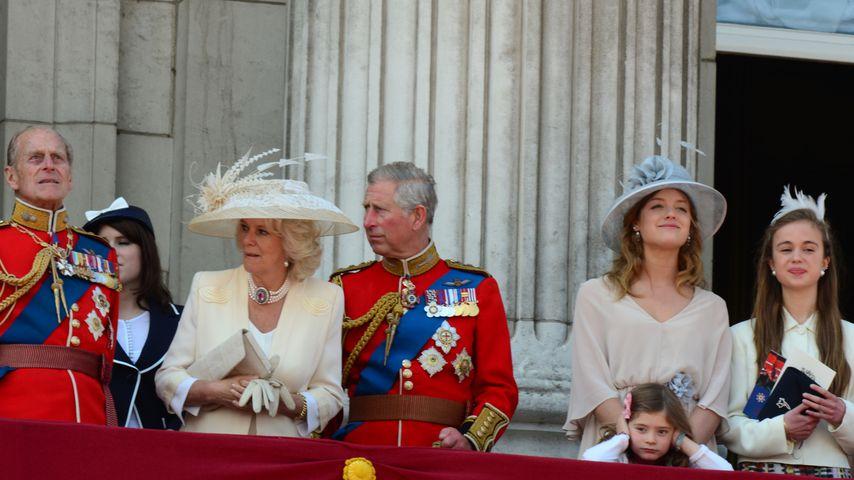Die britische Königsfamilie bei der Militärparade