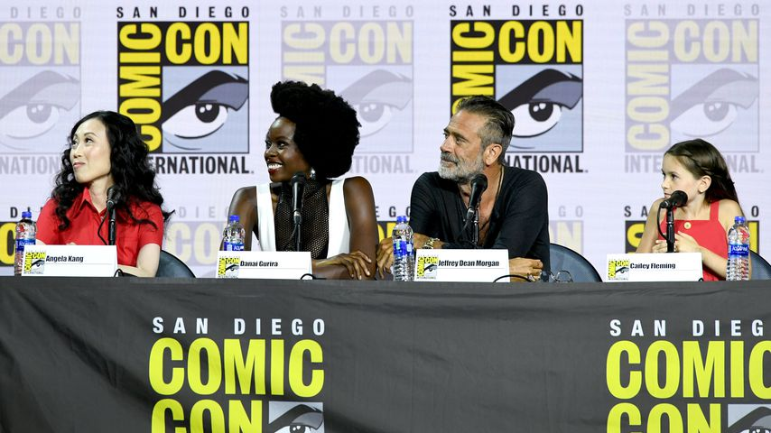 Angela Kang, Danai Gurira, Jeffrey Dean Morgan und Cailey Fleming auf der Comic-Con in San Diego