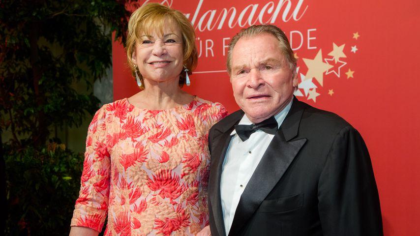 Angela Wepper und Fritz Wepper auf einer Party