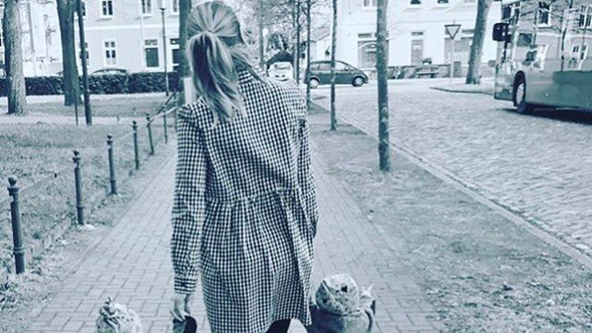 Angelina Heger und die Zwillinge
