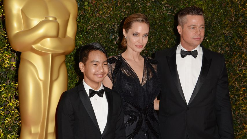 Angelina Jolie, Brad Pitt und Maddox, November 2013