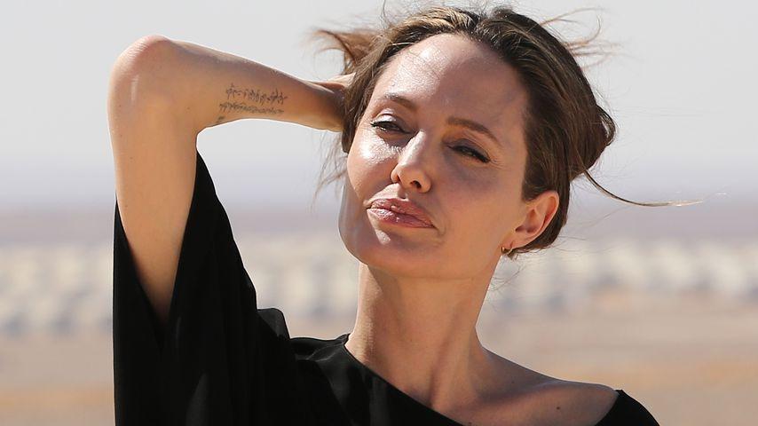 Angelina Jolie bei einem Besuch in Syrien 2016