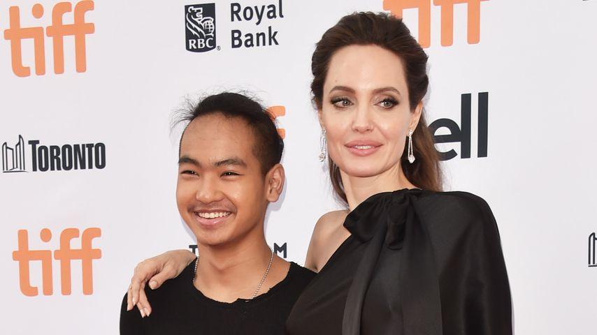 Angelina Jolie und ihr Sohn Maddox Jolie-Pitt