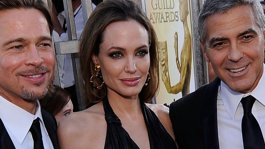 Angelina Jolie, George Clooney und Brad Pitt