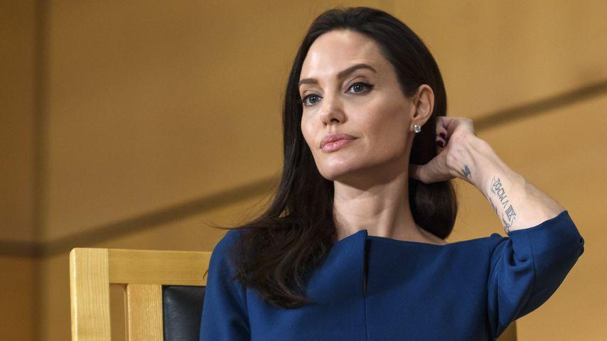 Angelina Jolie während einer UN-Konferenz