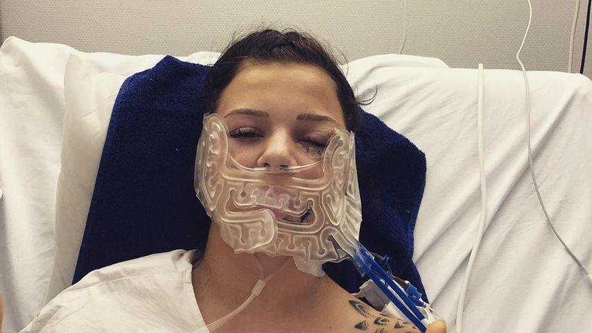 Angie Berbuer im Krankenhaus