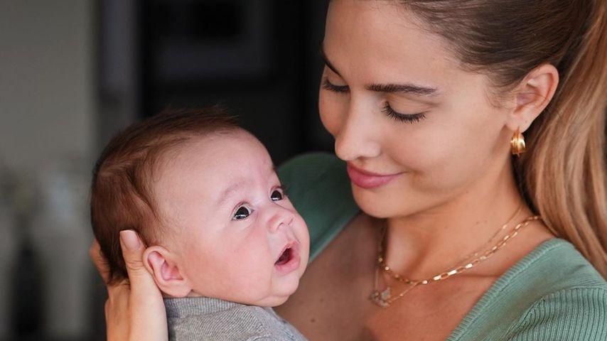 Ann-Kathrin Götze mit ihrem Sohn Rome