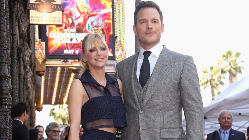 """Anna Faris und Chris Pratt bei seiner """"Walk Of Fame""""-Ehrung in Hollywood 2017"""