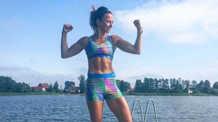Anna Lewandowska ist Sportlerin