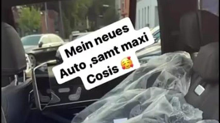 Anna-Maria Ferchichis Babysitze im Auto