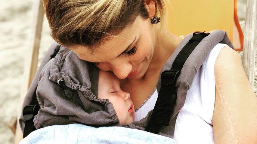 Anna-Maria Zimmermann mit ihrem Sohn Matti