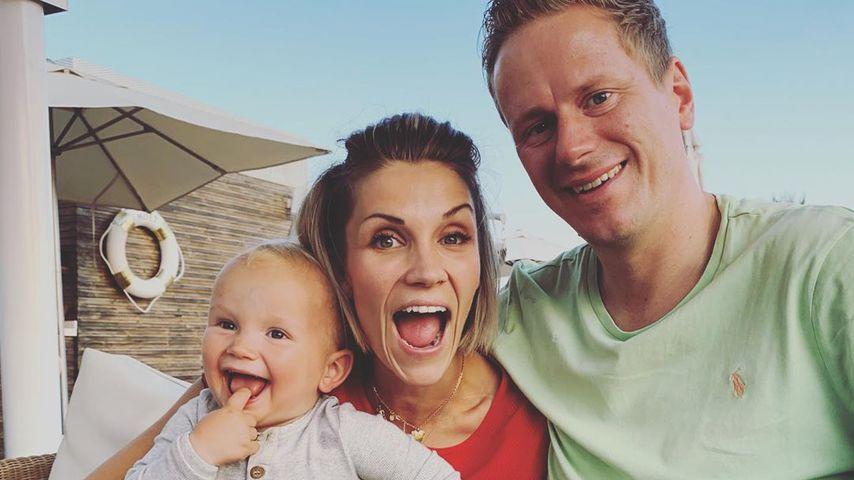 Anna-Maria Zimmermann mit ihrem Sohn Matti und ihrem Mann Christian