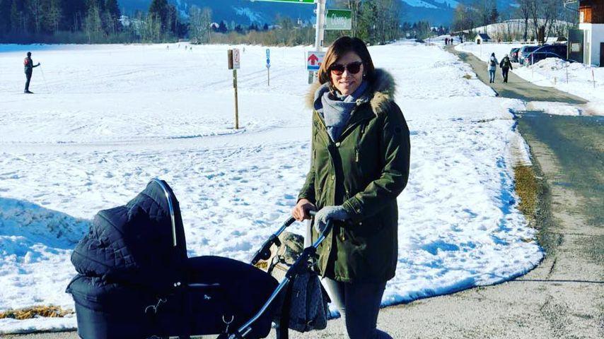 Kurz nach Geburt: Anna-Maria Zimmermann zeigt Babygesicht