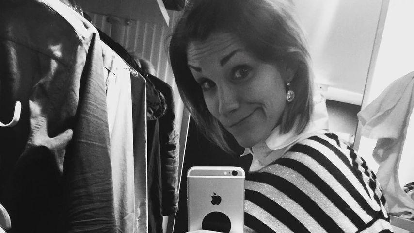 Total ungeduldig: Anna-Maria Zimmermann wartet auf ihr Baby!