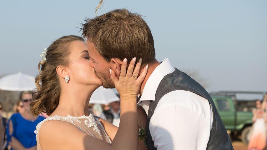 Anna und Gerald Heiser am Tag ihrer Hochzeit in Namibia