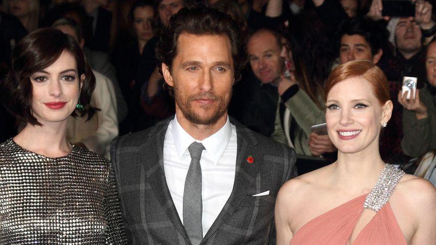 Anne Hathaway, Matthew McConaughey und Jessica Chastain