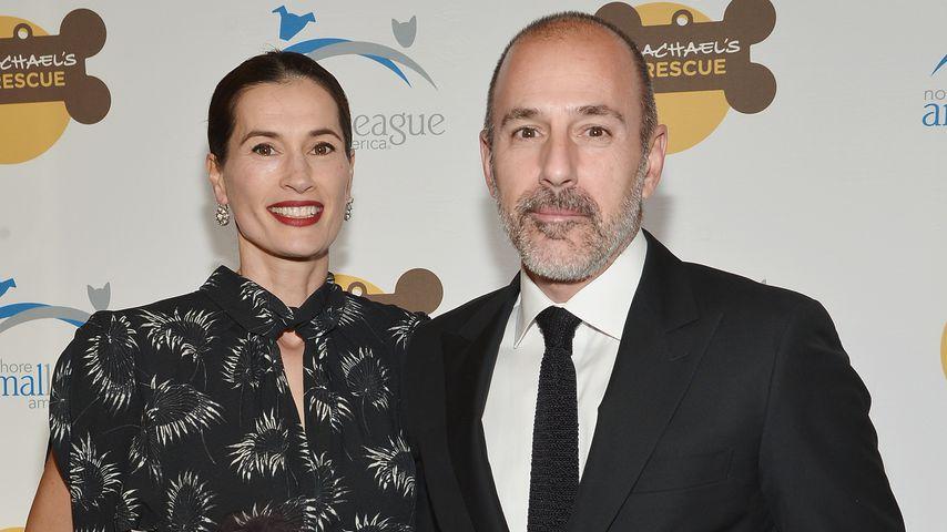 Annette Roque und Matt Lauer 2013 in New York