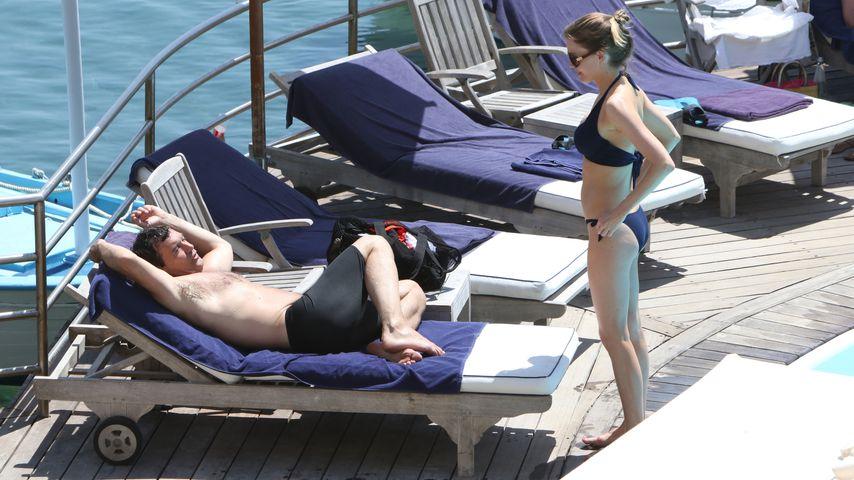 Antonio Banderas und Nicole Kimpel in Italien