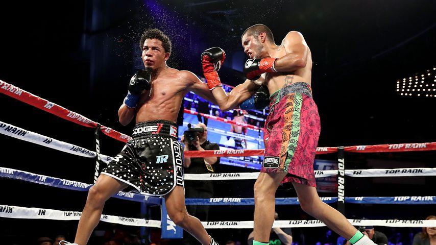 Antonio Lozada und Félix Verdejo im Leichtgewichtskampf im Madison Square Garden, 2018