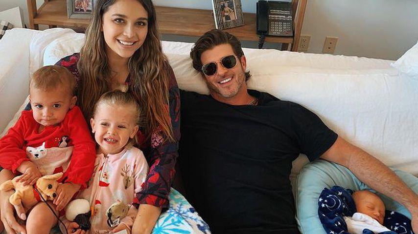 April Love Geary und Robin Thicke mit ihren drei Kindern