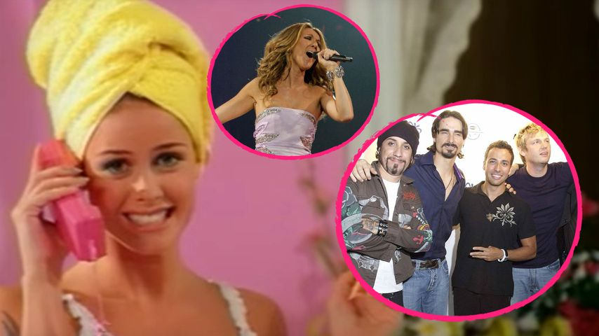 Aqua, Celine Dion und die Backstreet Boys in einer Collage