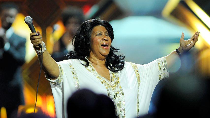 Aretha Franklin bei einem Auftritt