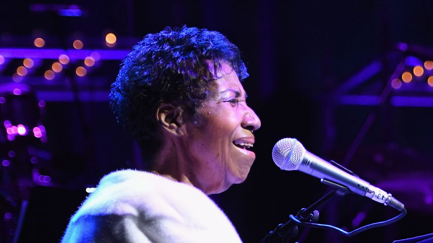 Aretha Franklin bei einem Konzert im November 2017