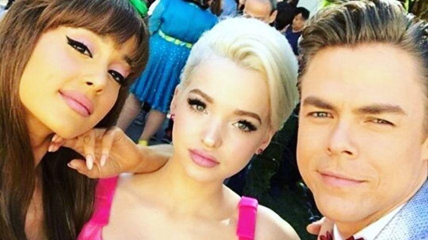 Ariana Grande, Dove Cameron und Derek Hough (v.l.)