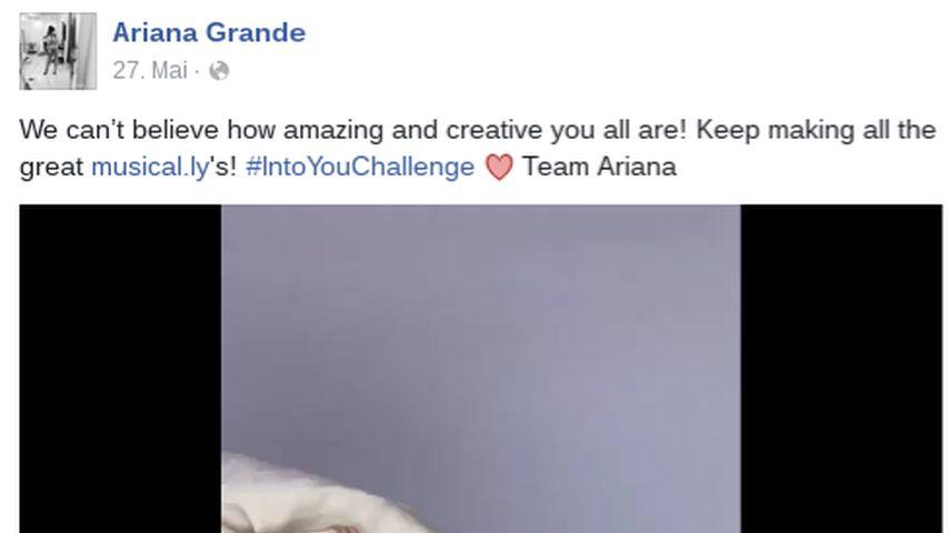 Ariana Grandes Facebook-Post