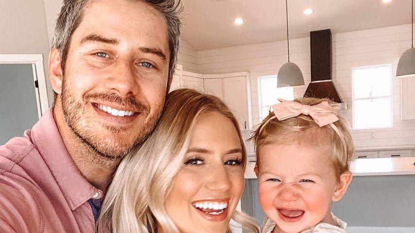 Arie Luyendyk Jr. mit seiner Frau  Lauren Burnham Luyendyk und Tochter Alessi