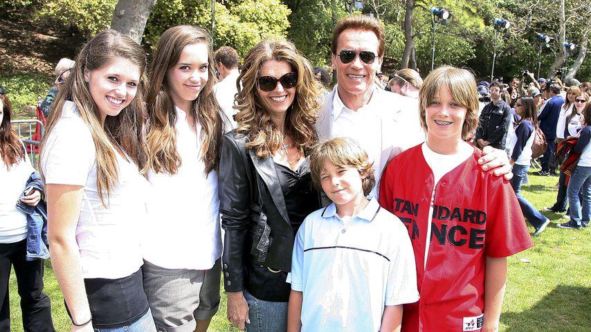 Arnold Schwarzenegger mit seiner Familie 2006