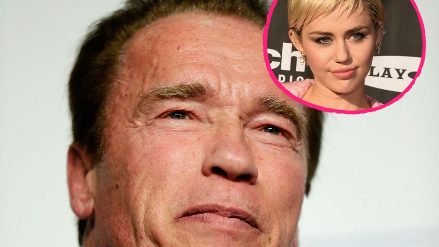 Arnold Schwarzenegger packt aus: So findet er Miley Cyrus!