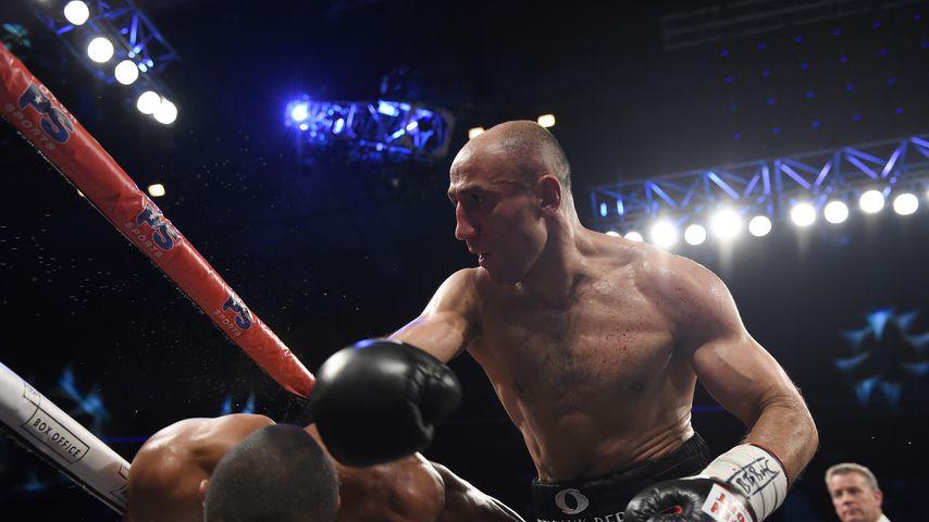 Arthur Abraham kämpft in der Wembley Arena gegen Chris Eubank Jr., 2017