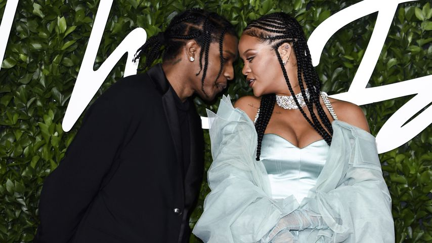 A$AP Rocky und Rihanna bei den Fashion Forward Awards in London im Dezember 2019
