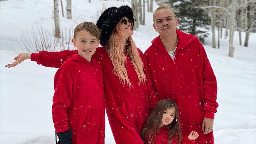 Ashlee Simpson mit ihrer Familie