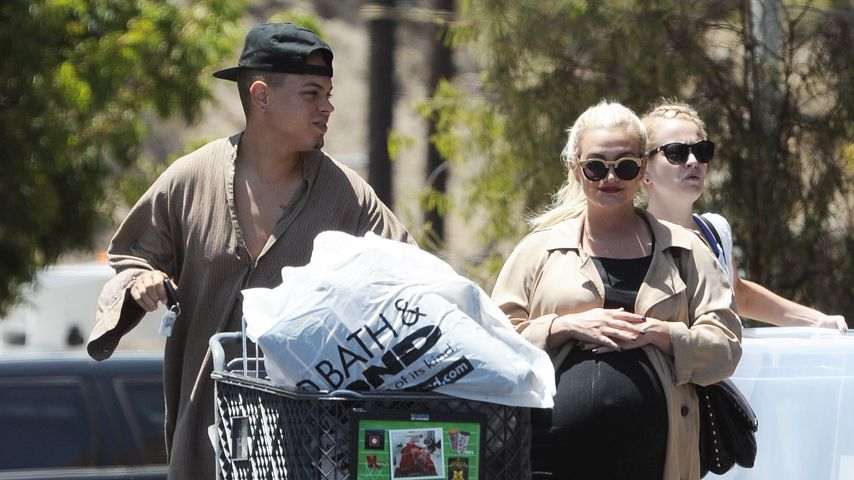 Evan Ross und Ashley Simpson