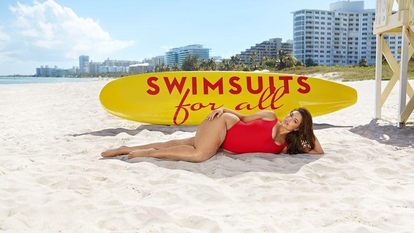 """Ashley Graham bei einer Kampagne von """"Swimsuits for All"""""""