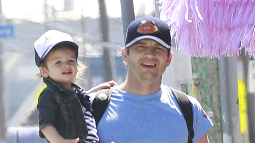 Ashton Kutcher mit Töchterchen Wyatt in Los Angeles