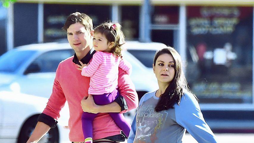 Ashton Kutcher und Mila Kunis mit Tochter Wyatt