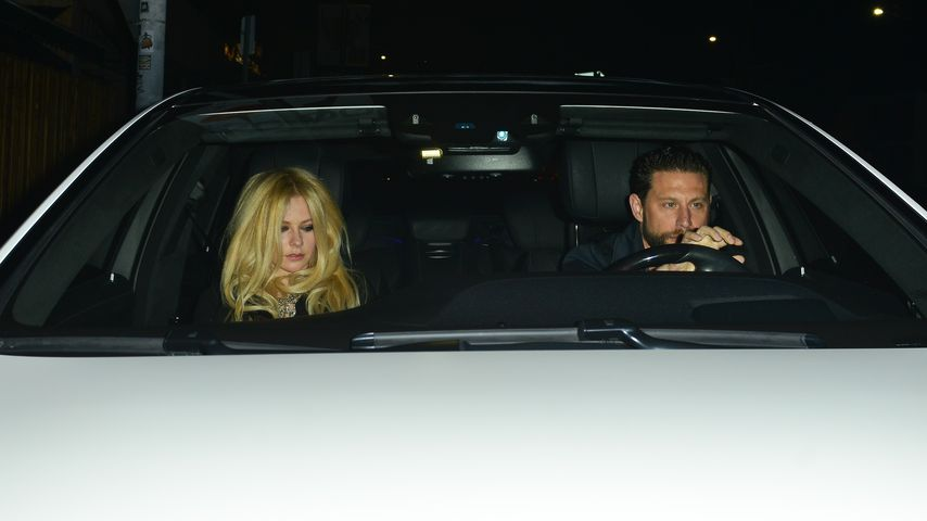 Avril Lavigne und J.R. Rotem in einem Auto, West Hollywood 2017