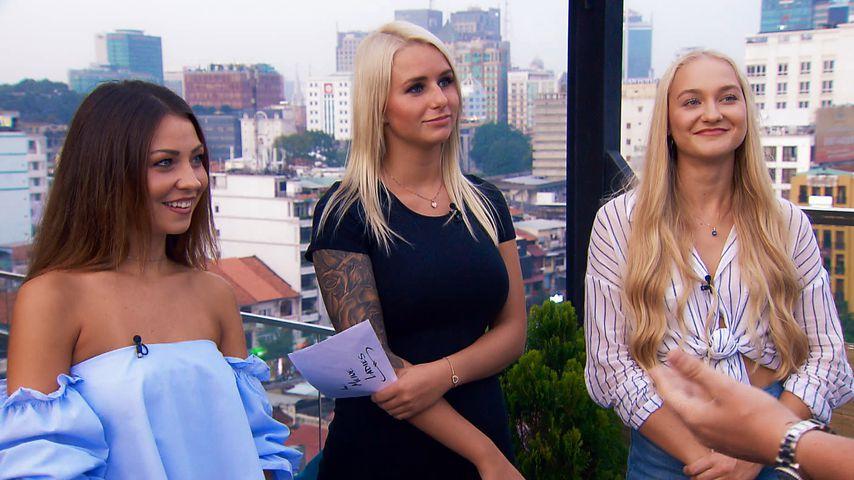 Bachelor-Kandidatinnen Kristina Yantsen, Carina Spack und Svenja von Wrese