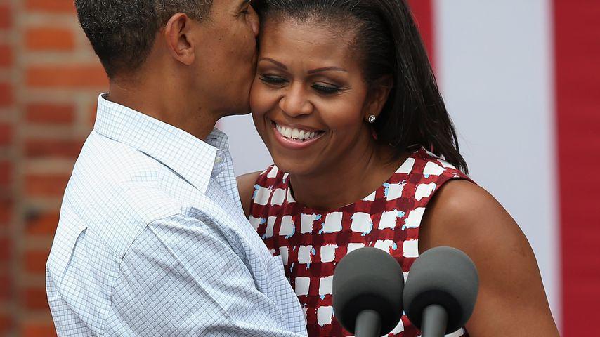 Barack Obama und Michelle Obama im US-Bundesstaat Iowa im August 2012