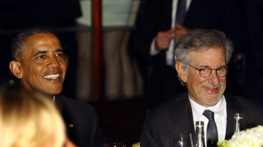 Barack Obama und Steven Spielberg