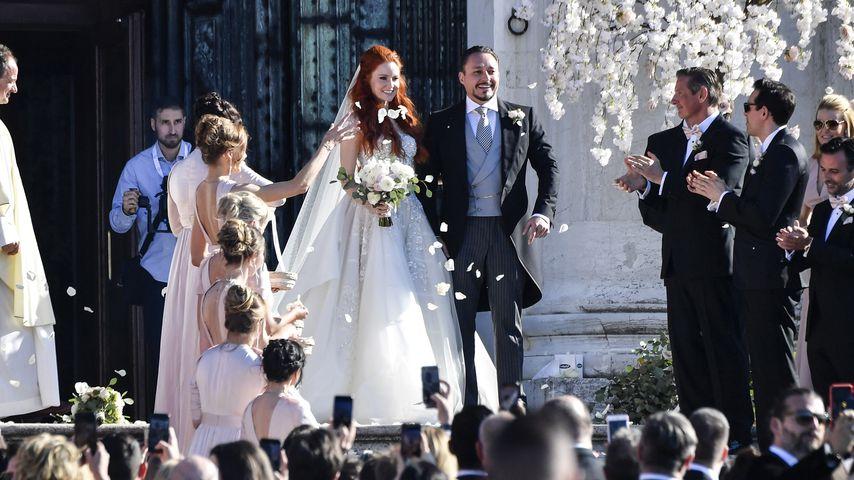 Barbara Meier und Klemens Hallmann bei ihrer Hochzeit im Juni 2019