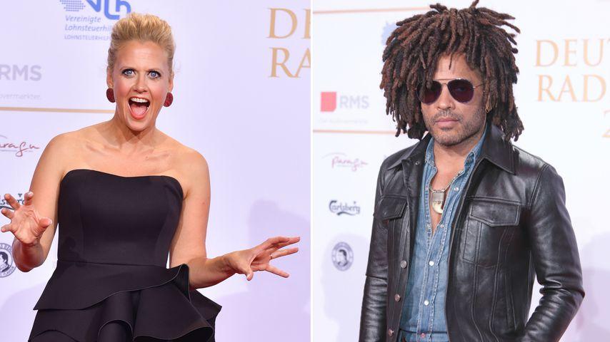Promi-Ladys in love: Lenny Kravitz beim Deutschen Radiopreis