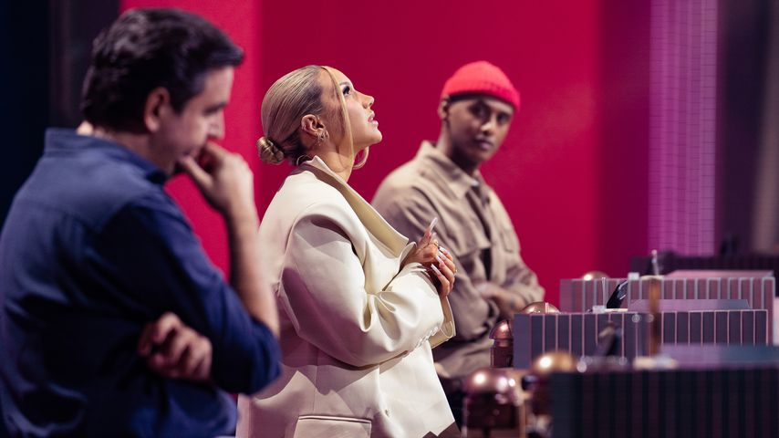 """Bastian Pastewka, Shirin David und Teddy Teclebrhan bei """"Wer stiehlt mir die Show?"""""""