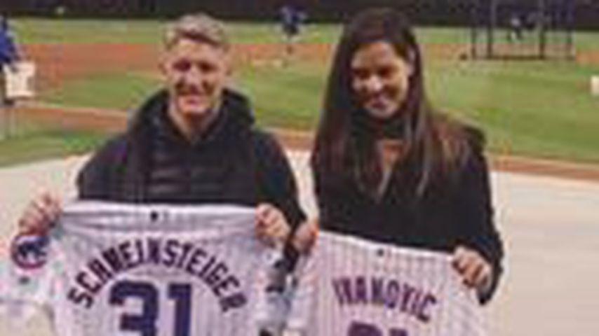 Bastian Schweinsteiger und Ana Ivanovic beim Chicago-Cubs-Spiel