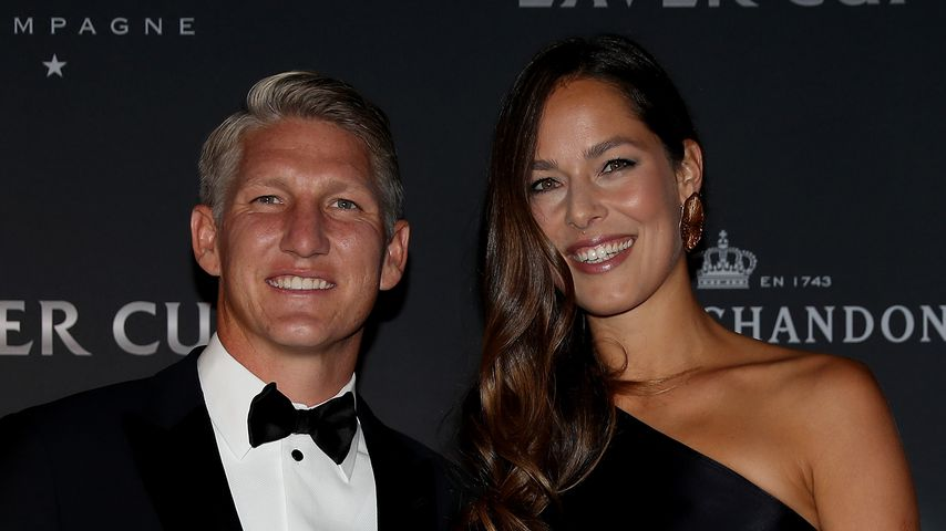 Fußballstar Bastian Schweinsteiger und seine Frau Ana Ivanovic