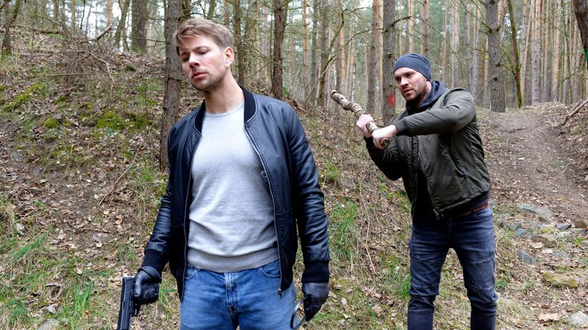 Bastian und Erik von GZSZ im Wald