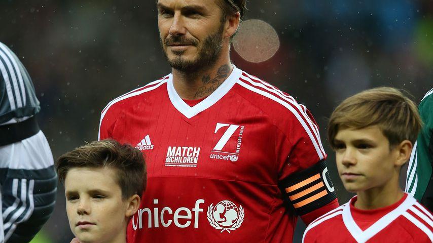David Beckham, Romeo Beckham, Harper Seven Beckham und Cruz Beckham